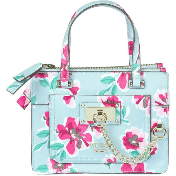 Guess Floral Purse. GUESS Huntley Floral Small Cali Satchel Floral Multi.