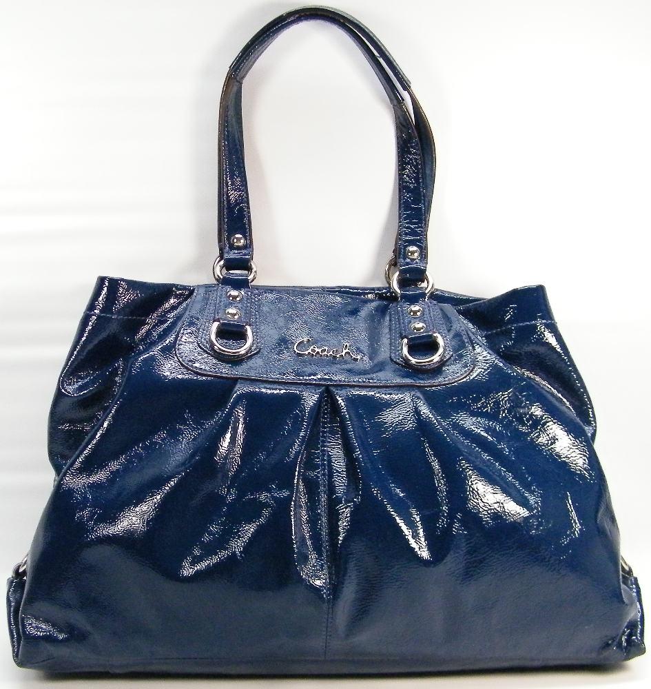 Blue Patent Leather Coach Purse Best Image Ccdbb